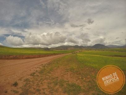 Paisagem no tour a partir de Cusco no periodo de chuvas
