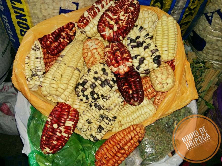 Milhos do Peru Mercado San Pedro em Cusco